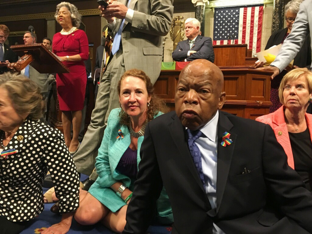 US Democrats protest House rejection of gun laws