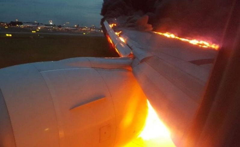 A passenger captures the dramatic landing at Changi Airport