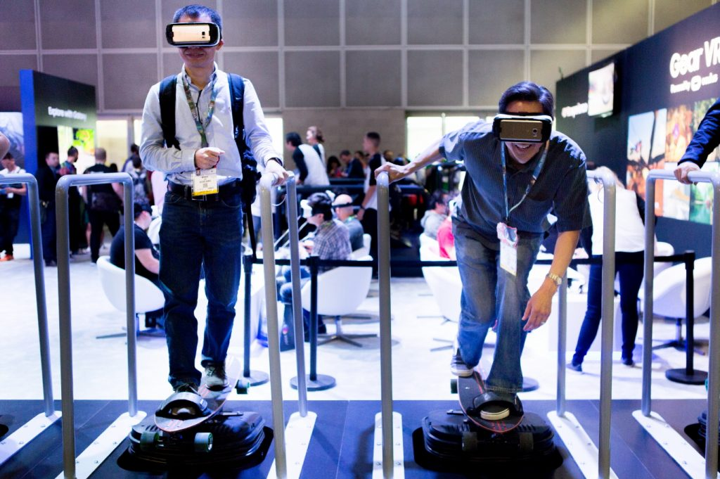 through a Gear VR headset, users will experience what it's like to take a leap of faith on a 4D skateboard experience
