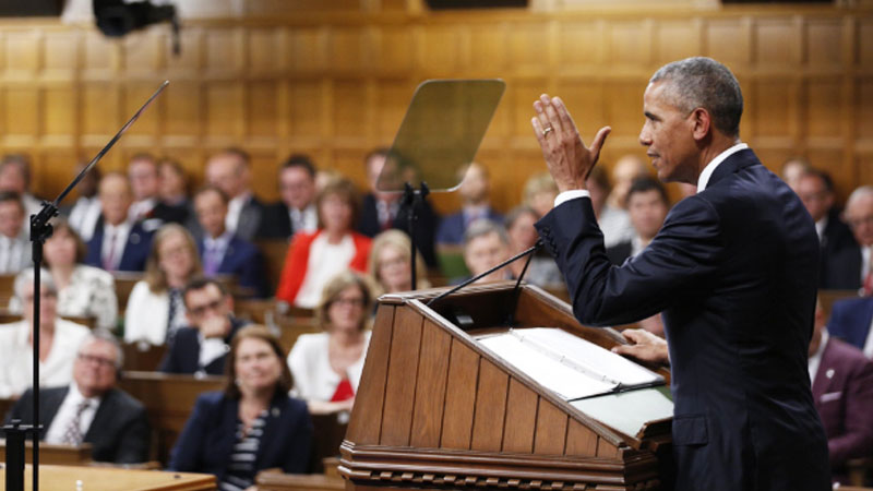 Obama blasts isolationism, with Trump in sights
