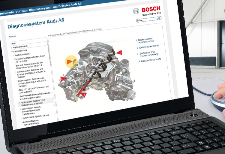 Easy-to-use and multimedia-based: Bosch e-learning for automotive topics