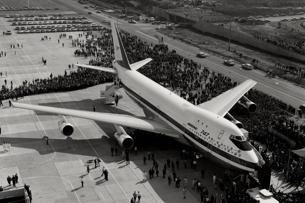 The prototype 747 was first displayed to the public on September 30, 1968