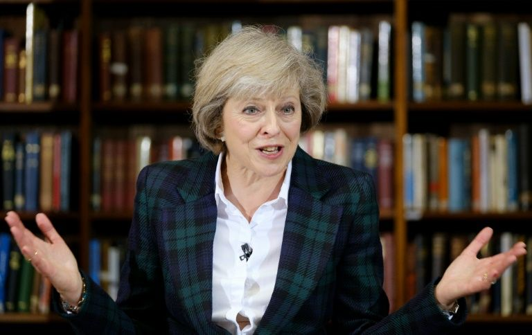 Conservative leadership frontrunner Theresa May