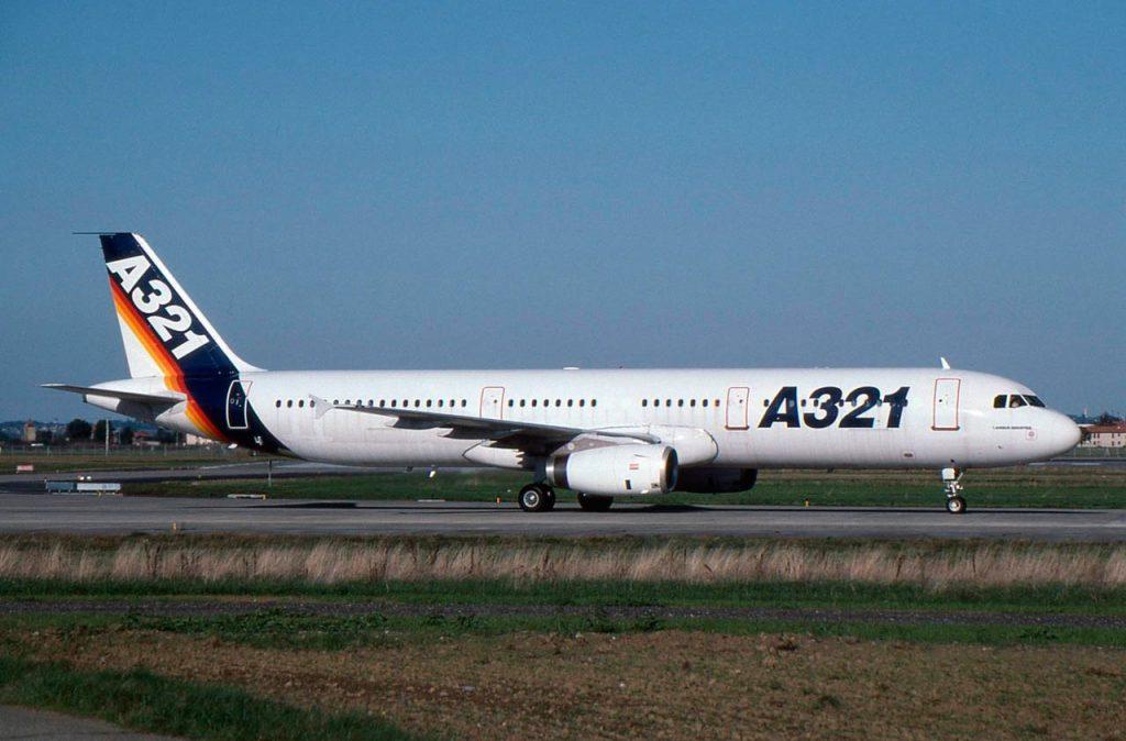 An Airbus A321 aircraft