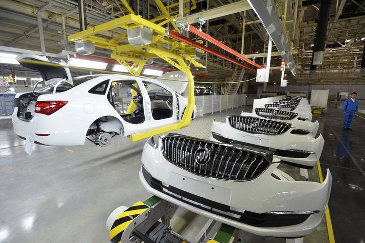 Buick assembly line in China