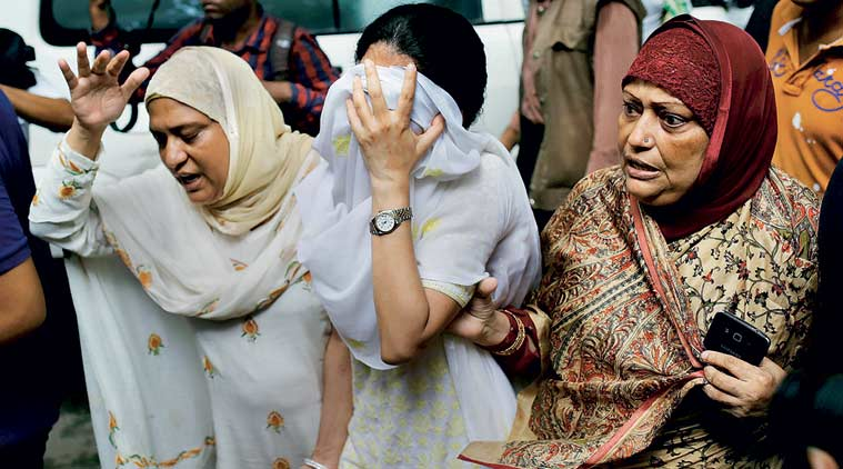 Some relatives of the victims of Dhaka Attack mourning