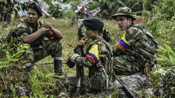 Rebels from the left-wing Revolutionary Armed Forces of Colombia (FARC)