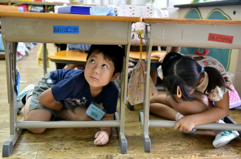 Japan routinely holds emergency drills to prepare for a major earthquake