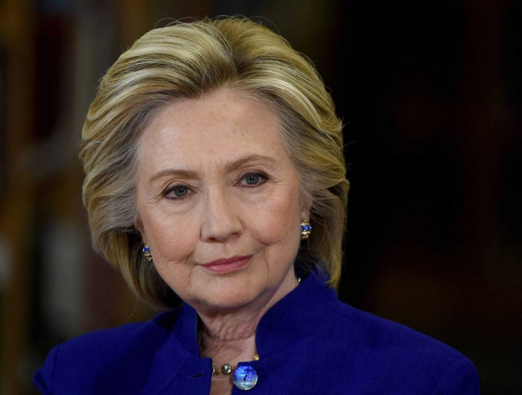 Democratic presidential candidate and former U.S. Secretary of State Hillary Clinton