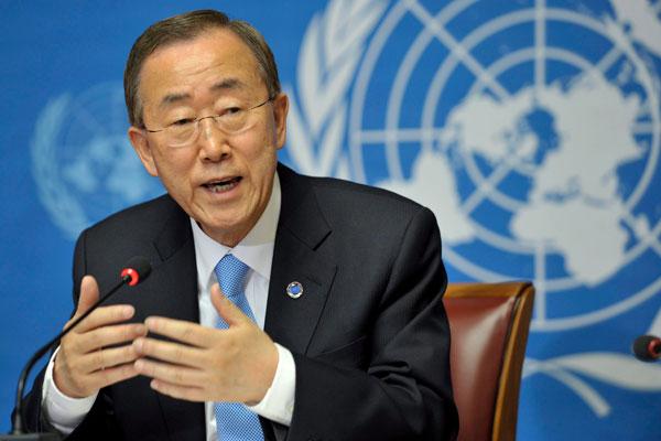 Current UN secretary general  Ban Ki-moon