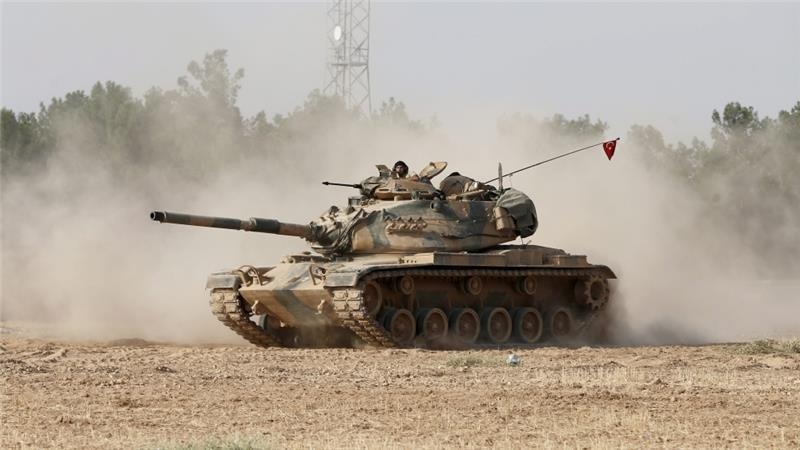 Turkish forces launched an operation last week against ISIL and Kurdish fighters inside Syria