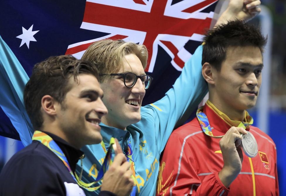 Swimming - Men's 400m Freestyle Victory Ceremony