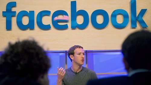 Facebook founder Mark Zuckerberg speaks at a conference