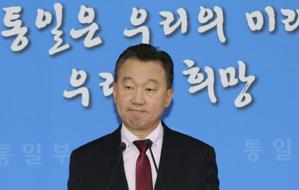 South Korea's unification ministry spokesman Jeong Joon-hee said North Korea's vice premier was executed and two more high-ranking officials were banished
