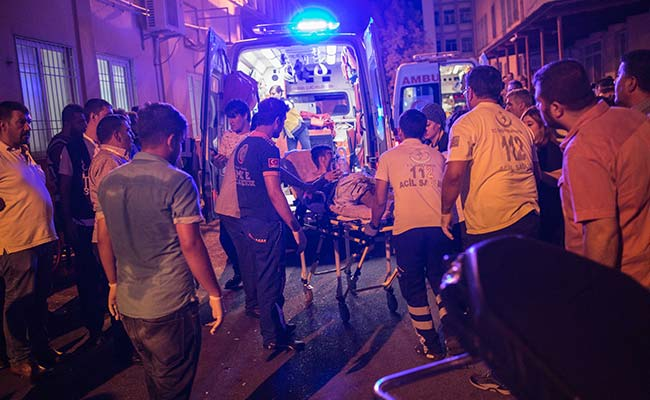 """Erdogan said, the Islamic State (IS) jihadist group was the """"likely perpetrator"""" of a bomb attack on a wedding"""