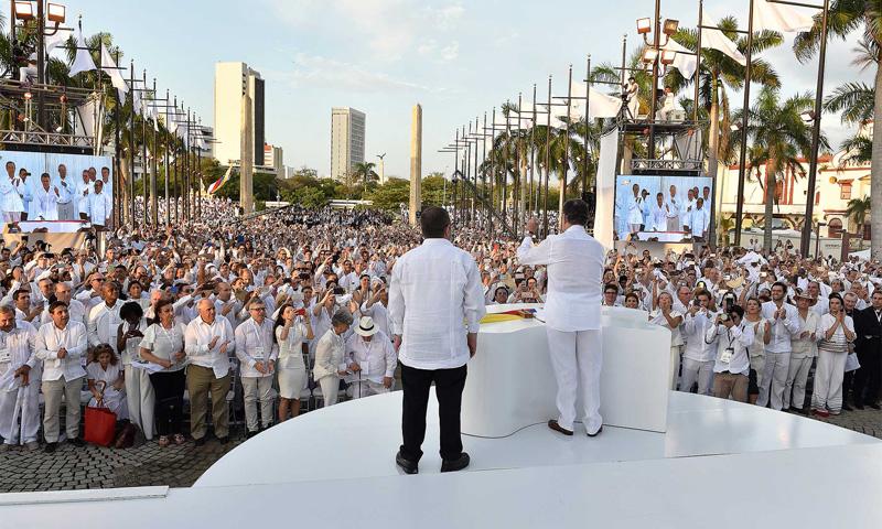 Cerca de 2.500 invitados especiales y más de mil periodistas presenciaron la firma del Acuerdo Final de Paz.