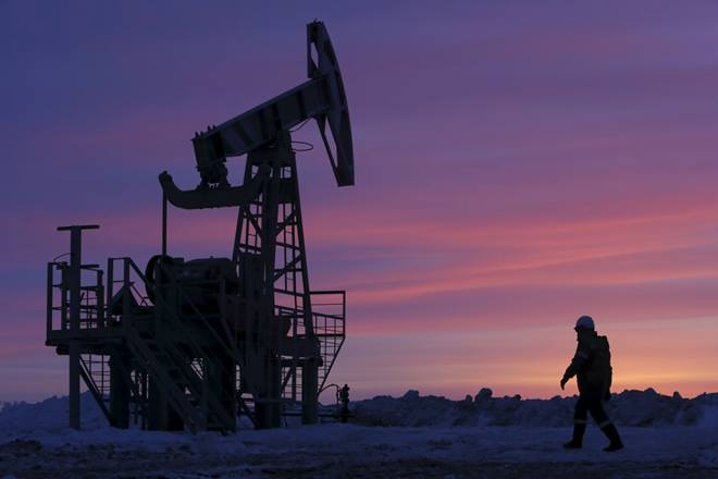 Oil prices up in Asia as dollar weakens