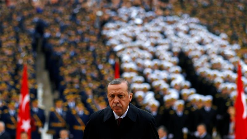 More than 100,000 people had already been sacked or suspended and 37,000 arrested since the coup attempt