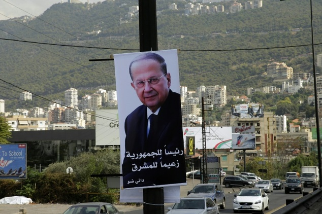 Lebanese presidential candidate Michel Aoun, a Christian former army chief, is allied with the powerful Iran-backed Hezbollah movement