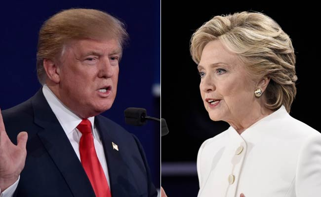 Donald Trump and Hillary Clinton during third and final US Presidential debate