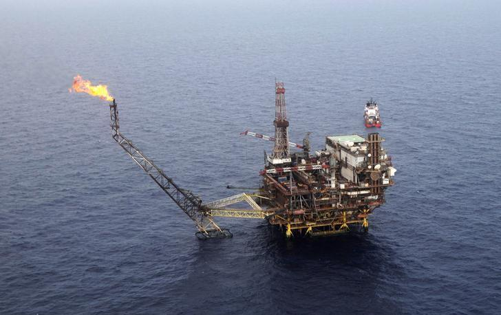 The Bouri oilfield, Libya's biggest offshore field, is seen 130 km (81 miles) north of Tripoli
