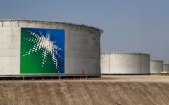 Shares of Saudi Aramco down 1.7% in late afternoon trade on Sunday