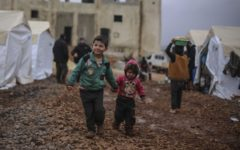 Over half a million children in northwest Syria forced to flee amid continued violence and harsh weather