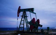 Oil prices fell sharply on Monday
