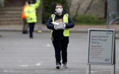 The United Kingdom's coronoavirus death toll rose 24 percent to 2,921