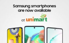 Samsung smartphones available at Unimart outlets in Dhaka