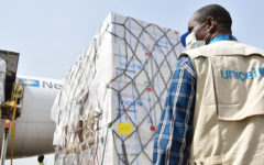 UNICEF airlifts necessary supplies to respond to COVID-19 in Yemen
