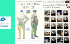 UN issues commemorative stamp on Bangabandhu and peacekeepers