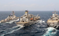 Indian Navy warship took part in a joint War drill with Japan