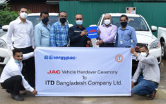 Energypac gives six units JAC double cabin pickup to ITD Bangladesh