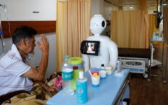 Mitra the robot helps COVID-19 patients in India