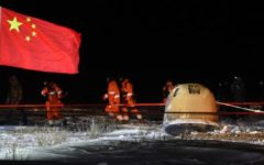 Unmanned Chinese spacecraft carrying rocks and soil from the Moon returned safely to Earth