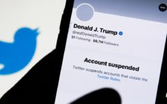 Shares of Twitter Inc slumped 7% after the suspension of Trump's account