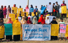 Youths take the oath to protect the forest on Sundarbans Day