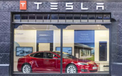 US electric vehicle and clean energy company Tesla reports higher profits