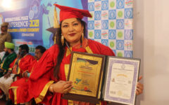 Momtaz Begum received honorary doctorate from India
