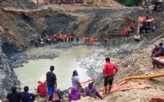 Seven people killed after a landslide at an Indonesian gold mine