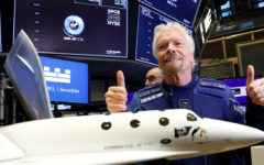 Sir Richard Branson rockets to the edge of space