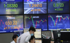 Asian markets mostly lower as a surprise surge in US inflation