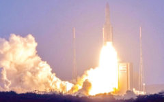 World's first commercial fully re-programmable satellite lifted off from French Guiana