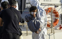 Rescue ships picked up more than 700 people trying to cross the Mediterranean this weekend