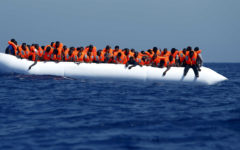Migrants have been rescued from the Mediterranean