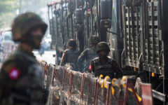 Myanmar military convoy hit by roadside bomb near Yangon