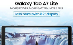 Samsung introduces the new Galaxy Tab A7 Lite for media consumption